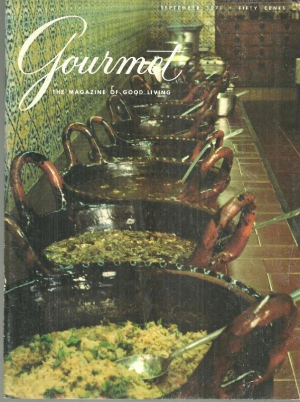Gourmet Magazine September 1971 New Delhi/ Mexico City/Alfresco Luncheons