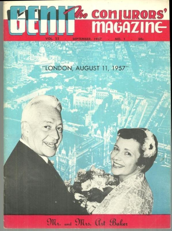 Genii Magazine September 1957 Mr. And Mrs. Art Baker On Cover/Teaching Magic