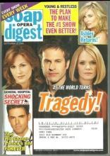 Soap Opera Digest Magazine September 23, 2008 As the World Turns Tragedy Cover