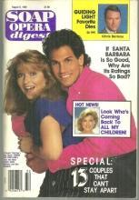 Soap Opera Digest August 8, 1989 Young and Restless Brad and Tracy on Cover