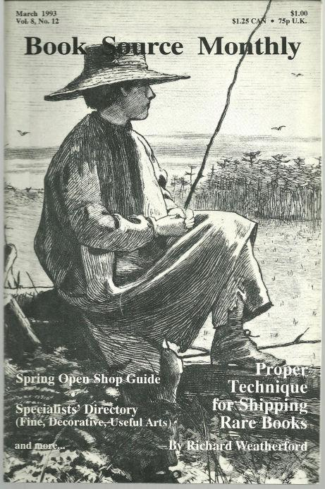 Book Source Monthly Magazine March 1993 Proper Technique for Shipping Rare Books