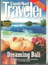 Conde Nast Traveler Magazine December 1997 Dreaming Bali on the Cover
