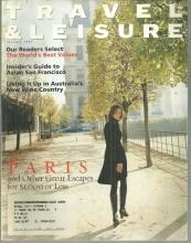 Travel and Leisure Magazine January 1997 Paris and Other Great Escapes on Cover
