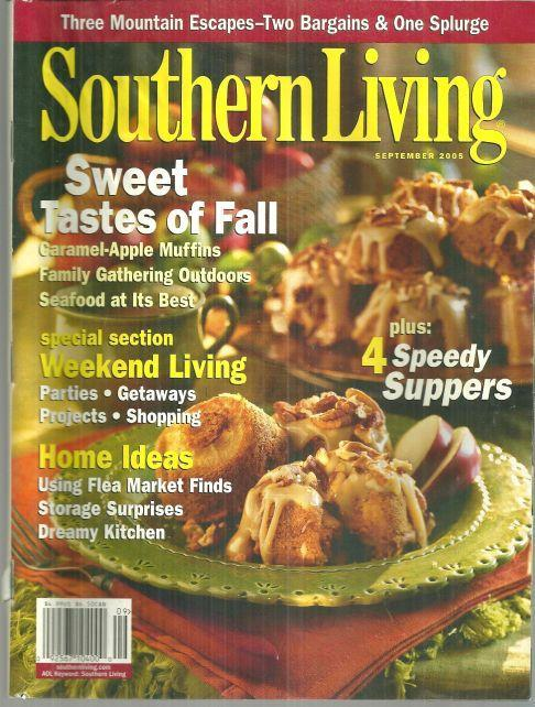 Southern Living Magazine September 2005 Apple Muffins and Best at the Beach