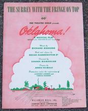 Surrey With the Fringe on Top From the Musical Play Oklahoma 1943 Sheet Music