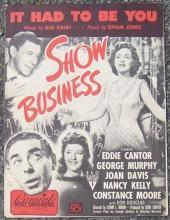 It Had to Be You From Show Business starring Eddie Cantor 1939 Sheet Music