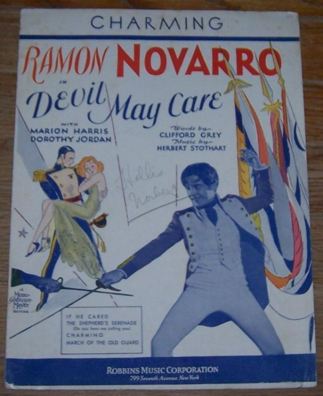 Charming From Devil May Care Starring Ramon Novarro 1929 Sheet Music