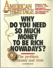American Heritage Magazine May/June 1989 The Problem of Time and Money
