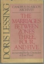 Marriages between Zones Three, Four, and Five by Doris Lessing 1980 1st ed DJ