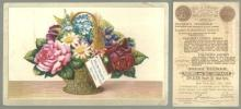 Victorian Trade Card for Solon Palmer Perfumer and Toilet Soap Maker w/Flowers