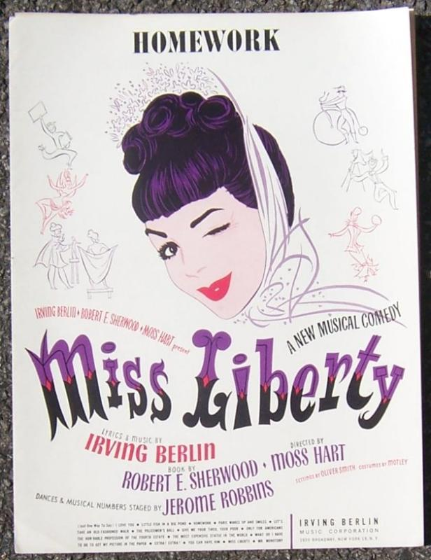 Homework From a New Musical Comedy Miss Liberty 1948 Sheet Music