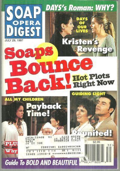 Soap Opera Digest July 29, 1997 Soaps Bounce Back on the Cover