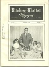 Kitchen Klatter Magazine November 1958 Thanksgiving Memories/Chocolate Cakes