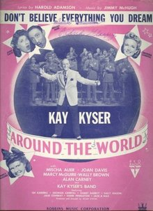 Kay Kyser Don't Believe Everything You Dream 1943 Sheet Music