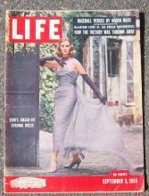 Life Magazine September 5, 1955 Dior's Evening Dress on the Cover