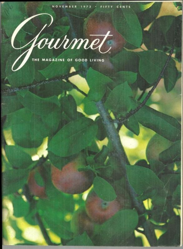 Gourmet Magazine November 1973 Cider/Art of Carving/Berlin/Thanksgiving Dinner