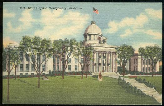 Vintage Unused Postcard of State Capitol, Montgomery, Alabama