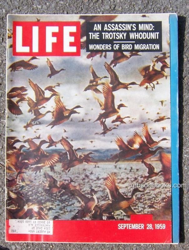 Life Magazine September 28, 1959 Bird Migration cover/Moon/Baseball/Miss America