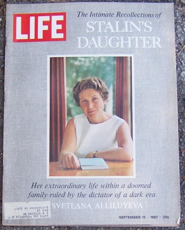 Life Magazine September 15, 1967 Stalin's Daughter Svetlana Alliluyeva on Cover