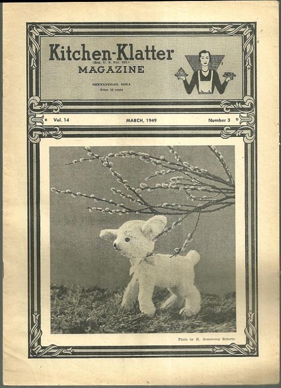 Kitchen Klatter Magazine March 1949  Let's Plant a Garden/Blarney Does It