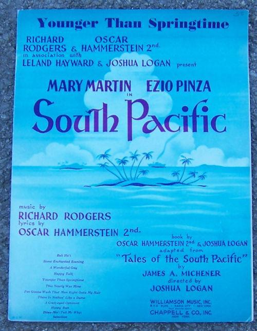 Younger Than Springtime From South Pacific 1949 Sheet Music
