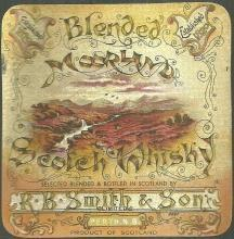 Vintage Moorland Scotch Whiskey Label Perth Scotland