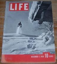 Life Magazine December 7, 1936 The Third Issue Skiing the Alps/Noel Coward/Texas