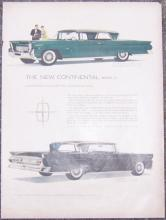 1957 New Continental Mark III Magazine Color Advertisement