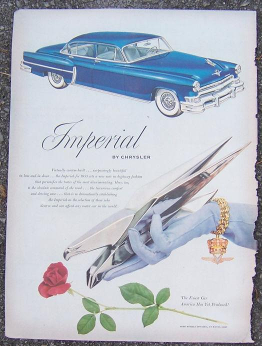 1952 Imperial for 1953 by Chrysler Life Magazine Color Advertisement