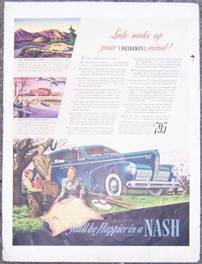 1940 Nash Layfayette Series Sedan Automobile Life Magazine Advertisement