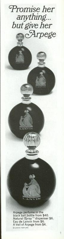 Arpege Perfume From Lanvin 1967 Magazine Advertisment