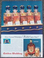 1940 Golden Wedding Whiskey Magazine Advertisment No Peers For Fifty Years