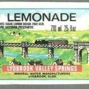 Vintage Label for Lydbrook Valley Springs Lemonade