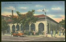 Postcard of US Post Office St. Petersburg Florida 1955