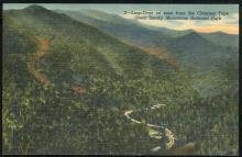 Postcard of Loop as Seen From the Chimney Tops Smoky Mountains National Park