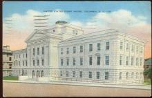 Vintage Postcard of United States Court House, Columbia, South Carolina 1942