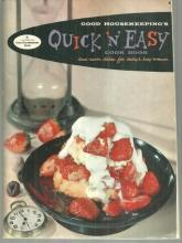 Good Housekeeping 's Quick and Easy Cook Book Illustrated by Lou Peters 1958