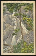 Unused Vintage Postcard of Glen Burnia Falls Near Blowing Rock, North Carolina