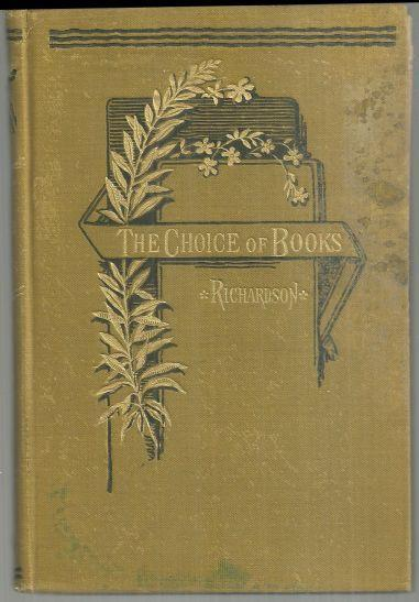 Choice of Books by Charles Richardson 1885 Literary Criticism