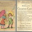 Victorian Trade Card for Scull's Champion Coffee With Little Boy and Girl