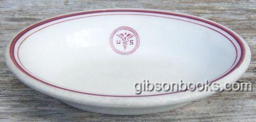 Vintage Sterling China US Army Medical Corps Small Oval Ceramic Dish