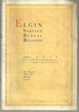 Elgin Service Bureau Bulletin Using Genuine Watch Material 1919