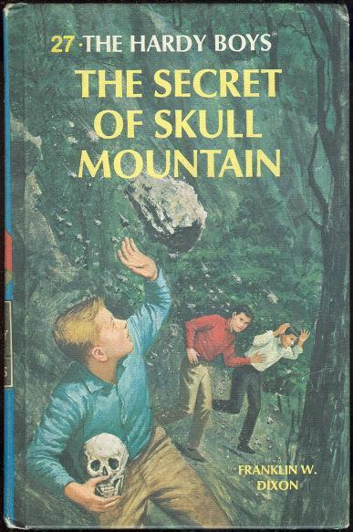 Secret of Skull Mountain by Franklin Dixon 1985 #27 Matte Blue Cover