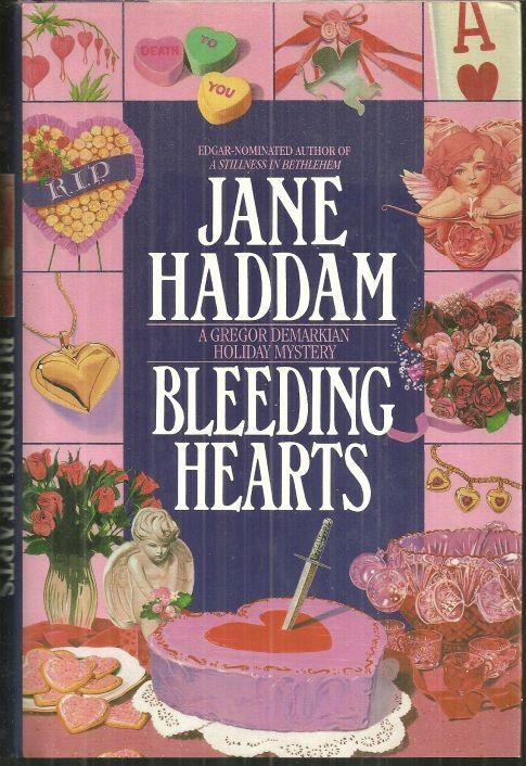 Bleeding Hearts by Jane Haddam 1994 1st edition with Dust Jacket Cozy Mystery