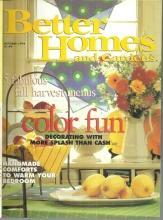 Better Homes and Gardens Magazine October 1994 Color Fun on the Cover