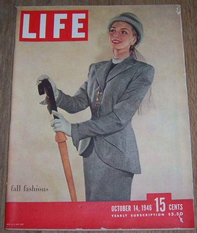 Life Magazine October 14, 1946 Fall Fashions/Dressage/Eugene O'Neill/Football