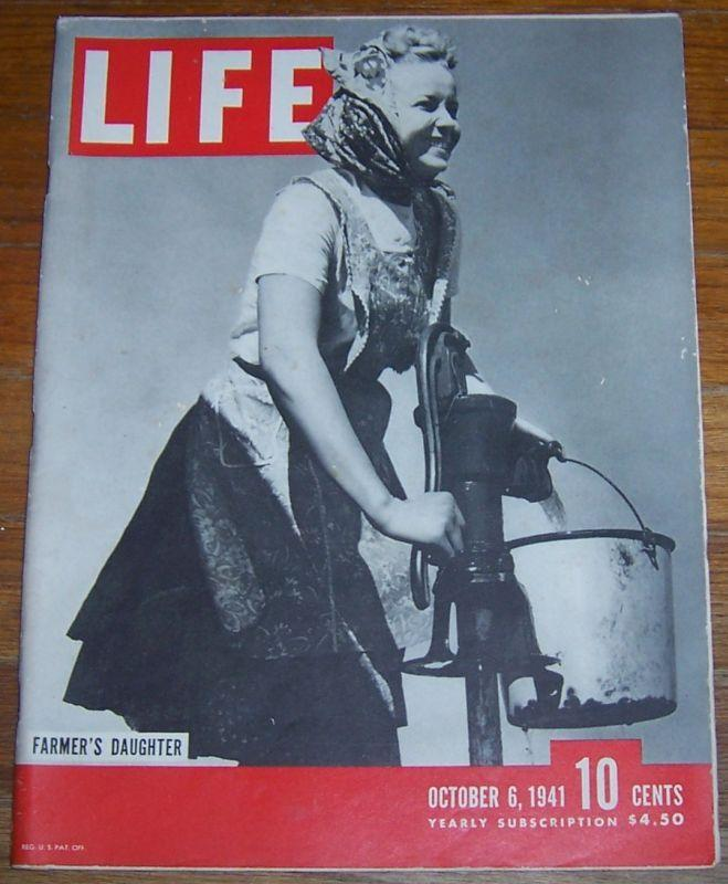 Life Magazine October 6, 1941 South Dakata/Norway/George Bellows/Gypsy Rose Lee