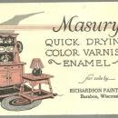 Masury Quick Drying Color Enamel Richardson Paint Baraboo Wisconsin Blotter