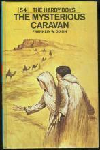 Mysterious Caravan by Franklin Dixon Hardy Boys #54 1975 Blue Matte Cover