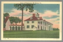 Vintage Unused Postcard of The Home of Washington, Mount Vernon, Virginia